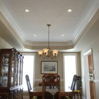 coffered ceiling with pot lights