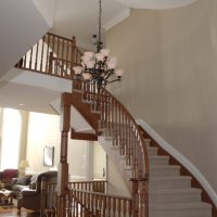 wood circular staircase
