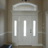 interior of entry door with transom