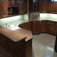 finished kitchen / bar in basement