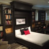 murphy bed open in library