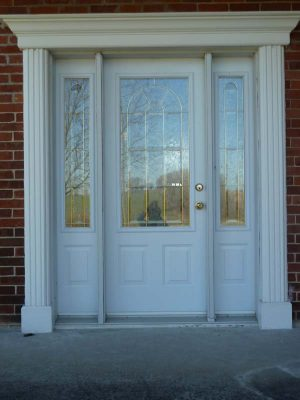 white entry door with side lights