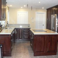 Kitchen with island