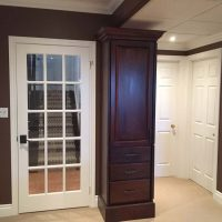 basement french door and custom cabinet