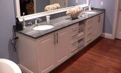 bathroom vanity with double sinks - bathroom renovations