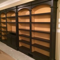 custom library bookshelves for books 2 deep