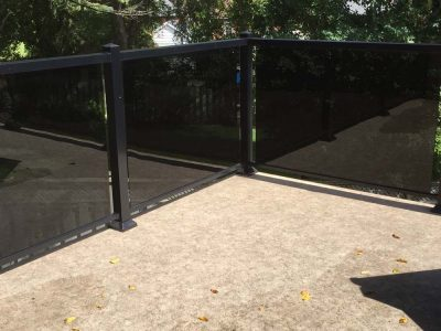 deck with tinted glass railing
