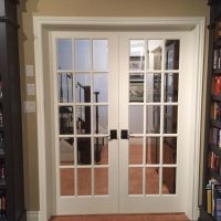 french doors in basement