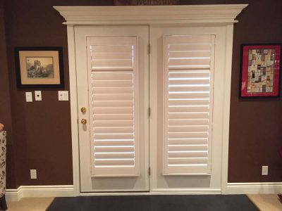 patio door with built in shutters
