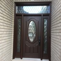 entry door with side lights and transom