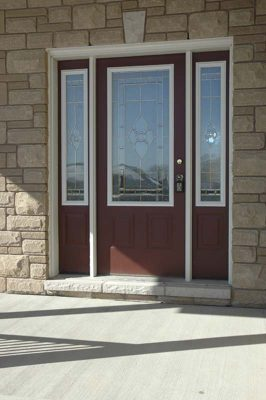 entry door with side lights