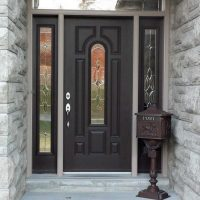 entry door with transom and side lights
