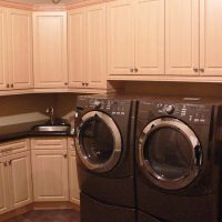 laundry room cabinets with sink