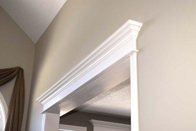 detailed trim above doors