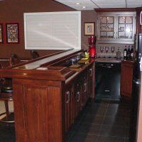 custom wood wet bar